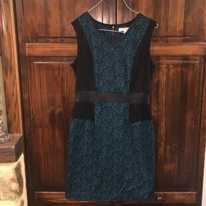 AA Studio AA Size 6 Black & Teal printed Dress